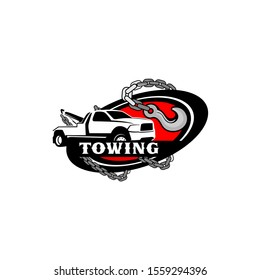 Tow Towing Truck Service Logo Template Vector