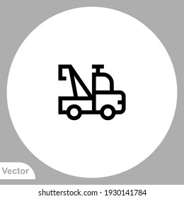 Tow truck icon sign vector,Symbol, logo illustration for web and mobile