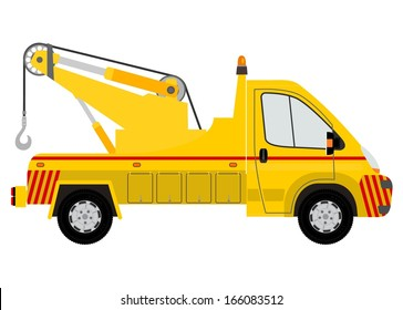 Tow truck silhouette. Vector