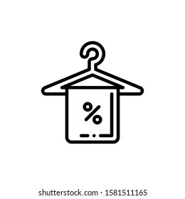 Towel Hanger Icon Outline Vector. Holiday Sale Icons. Online Shop Ikon.
