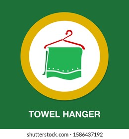 towel hanger. vector towel hanger illustration. cotton cloth