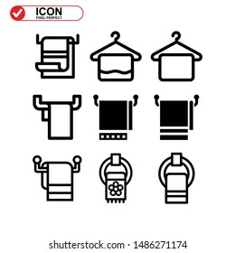 towel icon isolated sign symbol vector illustration - Collection of high quality black style vector icons