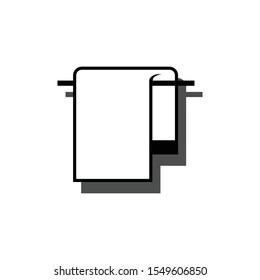 towel logo / icon balck and white blue shadow