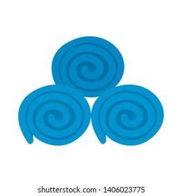 Towel Rolls Icon. Flat Color Design. Vector Illustration.