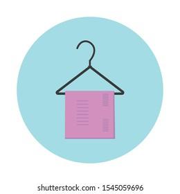 Towel simple illustration clip art vector