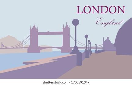Tower Bridge, England, London. Tower Bridge Landscape.