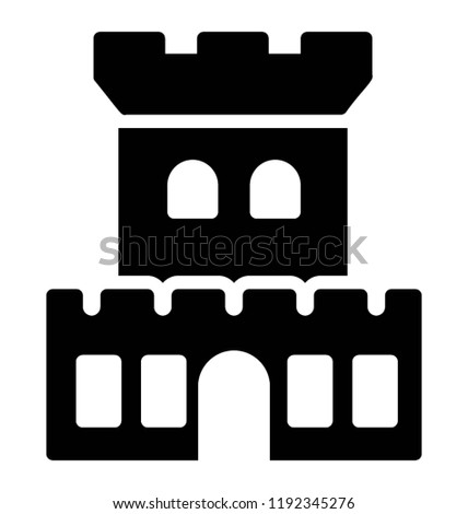 Tower Castle Medieval Times Known Markand Stock Vector Royalty Free