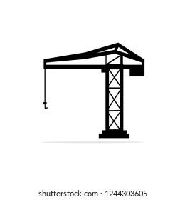 tower crane icon. Vector concept illustration for design.