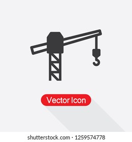 Tower Crane Icon Vector Illustration Eps10