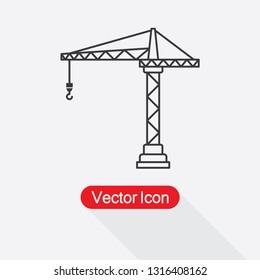 Tower Crane Icon Vector Illustration Eps10