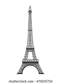 tower eiffel isolated icon vector illustration, eps10