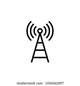Tower signal icon vector illustration logo template for many purpose. Isolated on white background.