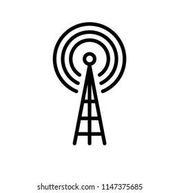 tower signal icon vector template editable stroke