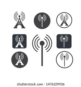 tower signal logo icon vector illustration design