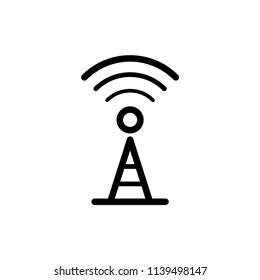 tower signal vector icon