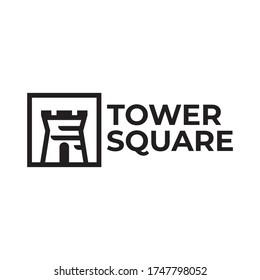 tower square logo vector illustration