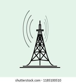 tower transmitter icon illustration