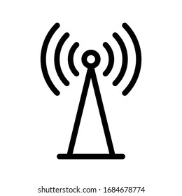 tower vector thin line icon