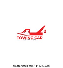 Towing Car Logo Design Vector