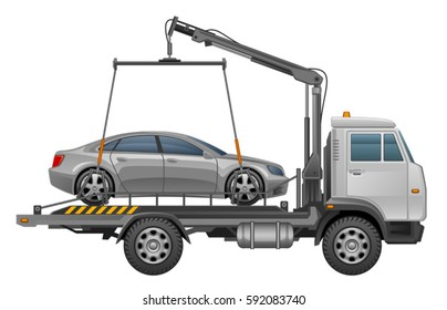 Towing truck transportation emergency car