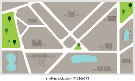 Town map background vector illustration