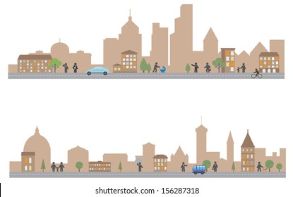 Town. Vector for you design