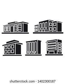 Townhomes Outline vector symbol  icon