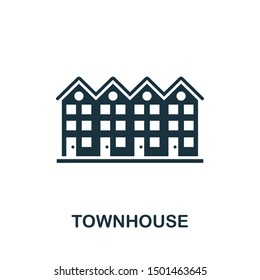 Townhouse icon vector illustration. Creative sign from buildings icons collection. Filled flat Townhouse icon for computer and mobile. Symbol, logo vector graphics.