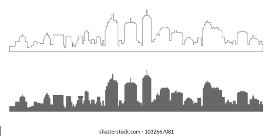 townscape outline icon