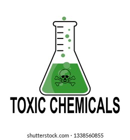 Toxic chemicals sign.