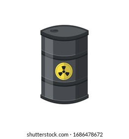 Toxic container illustration design elements. flat icon