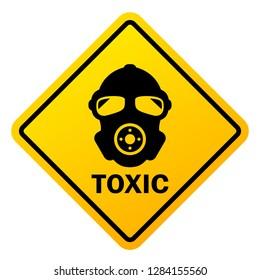 Toxic hazard vector sign illustration isolated on white background