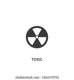 toxic icon vector. toxic sign on white background. toxic icon for web and app