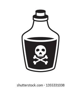 toxic liquid, bottle icon vector