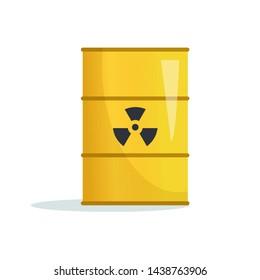 Toxic, radioactive waste. Barrel Vector. Cartoon. Isolated  Dump, storage