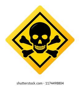 Toxic safety Hazard Danger Harmful Malware Virus  sign illustration isolated on background Vector Icon
