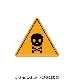 Toxic safety Hazard Danger sign illustration isolated on white background