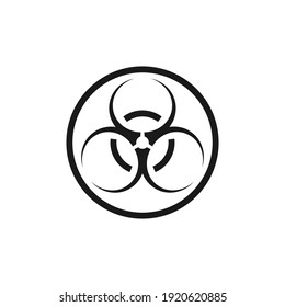 Toxic sign, symbol. Warning radioactive zone graphic vector. Icon flat style modern design Isolated on Blank Background. Vector illustration of chemical.