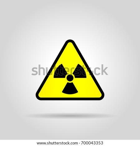 Toxic Sign Symbol Warning Radioactive Zone Stock Vector Royalty