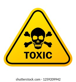 Toxic vector sign illustration isolated on white background