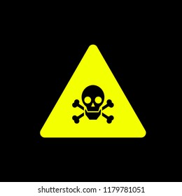 toxic warn sign icon concept.