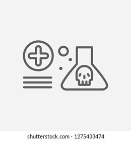 Toxicology icon line symbol. Isolated vector illustration of  icon sign concept for your web site mobile app logo UI design.