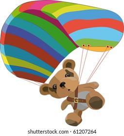 Toy bear on the para clown
