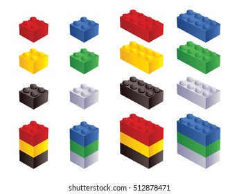 Toy building block bricks for children