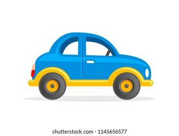 Toy Car. Cartoon Vector Illustration.