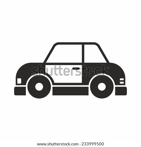 Toy Car Icon Stock Vector Royalty Free 233999500 Shutterstock
