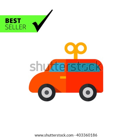 Toy Car Icon Stock Vector Royalty Free 403360186 Shutterstock