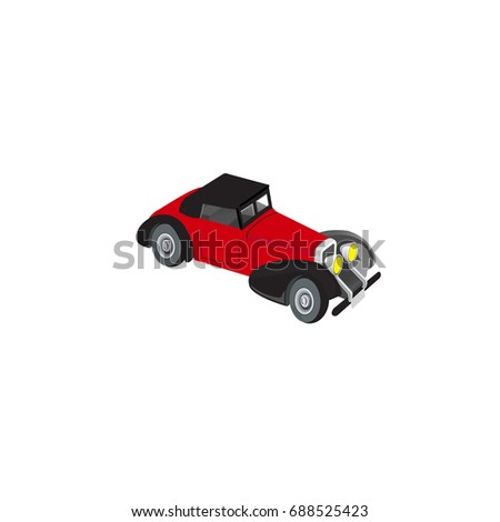 Toy Car Icon Isolated Vector Illustration Stock Vector Royalty Free