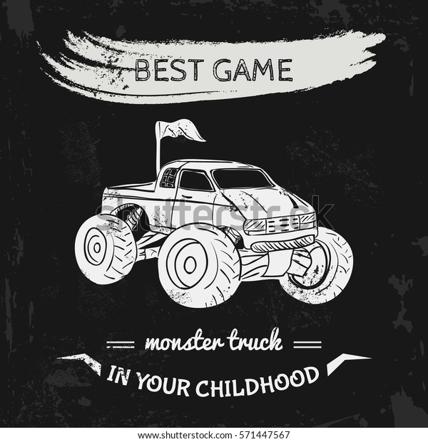 Truck And Car Shop >> Toy Car Shop Concept Monster Truck Stock Vector Royalty