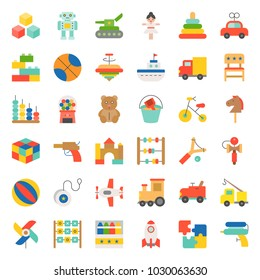 Toy for children and baby icon set 1/3, flat icon